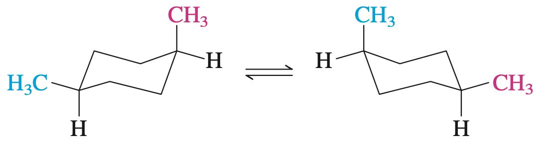 顺-1,4-二甲基环己烷的两种构象