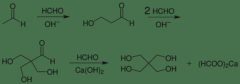 工业上制备季戊四醇,最后一步为Cannizzaro Reaction